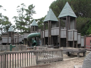The Frontierland Park includes a large, sprawling playground built by community volunteers 12 years ago.