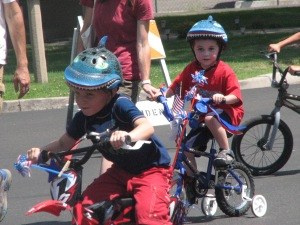 Photos by Joey Crandall The Minden Town Park kids bike parade