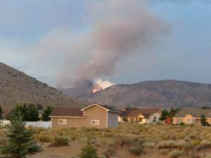 Photos courtesy of Scott Riley A view of the Tarnahan Hill fire from near Stephanie Way.