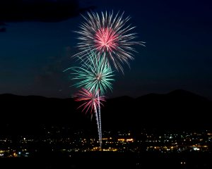 Photo by Ron Harpin Fireworks in Carson City last night.