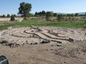 A labyrinth is taking shape near the entrance of Heritage Park Gardens.