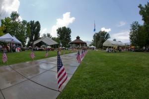 Photo by Ron Harpin/ rahphotosnv.com Rain and hail briefly interrupted the festivities at Minden Town Park.