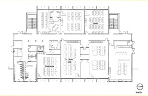Floor plan for the new classroom building at Douglas High School.
