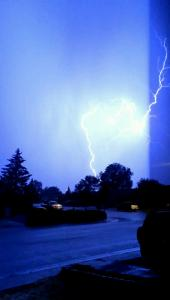 Photo by Kimberly Fields, taken Monday night in the Ranchos