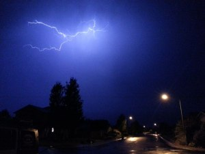 Photo by Chris Dickerson Lightning over Chichester Estates Monday night.