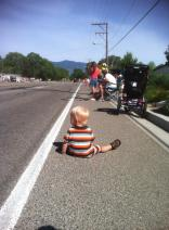 Photo courtesy of Denise Frueh Waiting for the Parade to start.