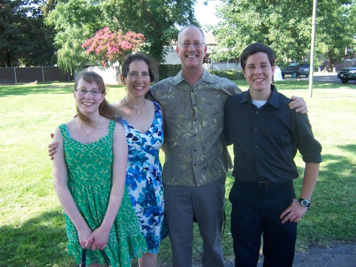 From left: Elaine, Karen, Don and Andrew Brockhage in Washington. Elaine graduates from high school Wednesday and will be one of two student speakers at the ceremony. - Photo courtesy of the Brockhage family