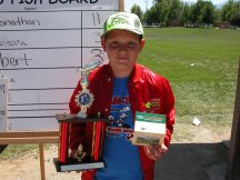 Jonathan with his grand champion trophy