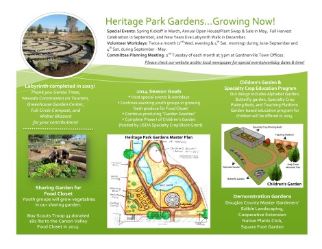 Plans and information on the Heritage Park Gardens project.