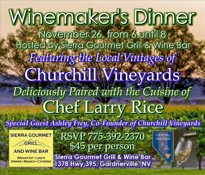 Churchill Vineyards - Winemakers Dinner medium poster