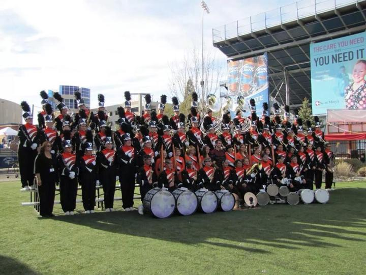 Special to the Carson Valley Time The Douglas High School band debuted its new uniforms Saturday at the Sierra Band Crusade