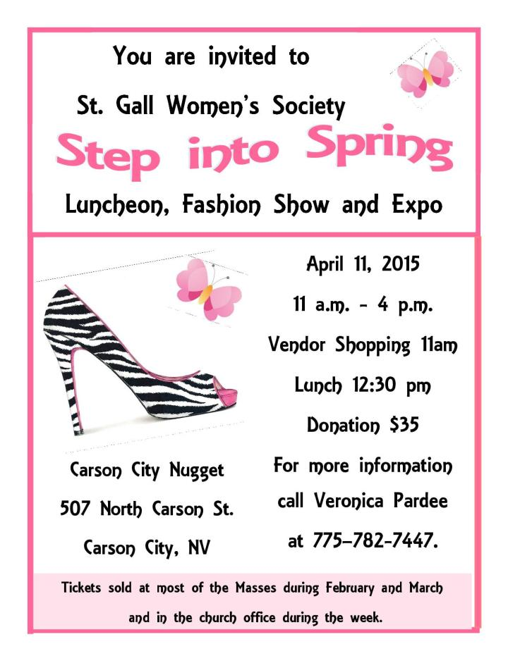 Step Into Spring  flyer