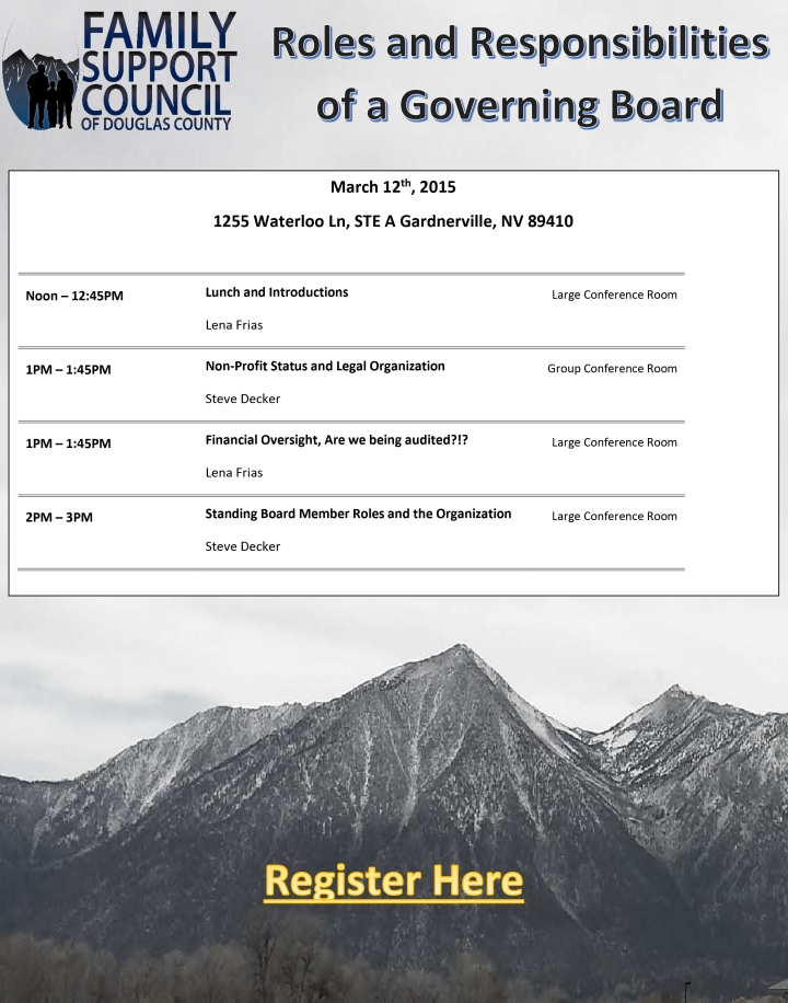 Roles and Responsibilities of a Governing Board