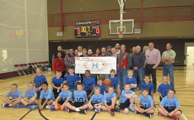 Pictured are members of the Douglas County youth basketball third and fourth grade division, members of the Park and Recreation Commission, and Douglas County Parks and Recreation Department staff.)