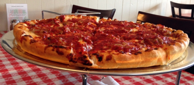 Chicago Mike's Pizza in Gardnerville, opening the week of April 7, will serve deep dish (shown here) and thin crust authentic Chicago-style pizza.