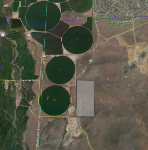 Proposed location of the Nevada SeaDream project (grey rectangle)