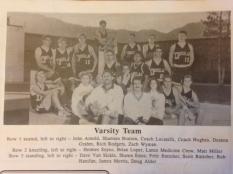 DHS varsity basketball team, 1989-90