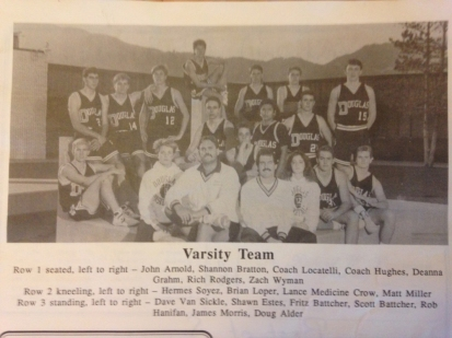 DHS varsity basketball team, 1989-90